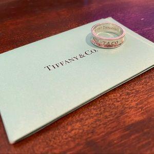 "Tiffany & Co ""Tiffany 1837"" Silver Ring Size 8.5"